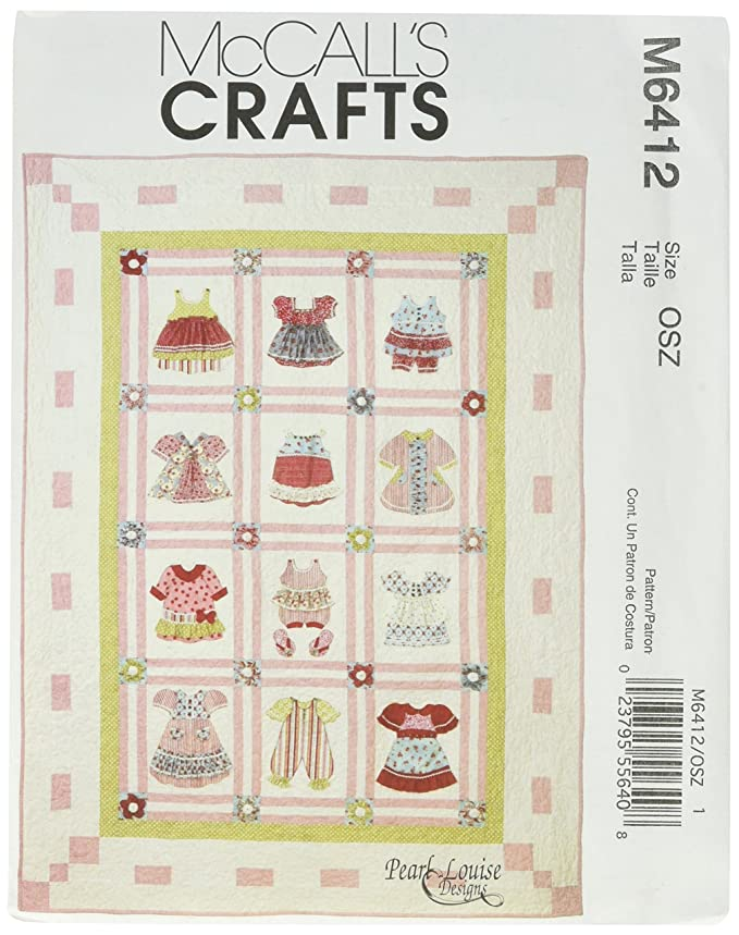 Amazon.com: McCall\'s Patterns M6412 Dimensional Quilt, One Size Only