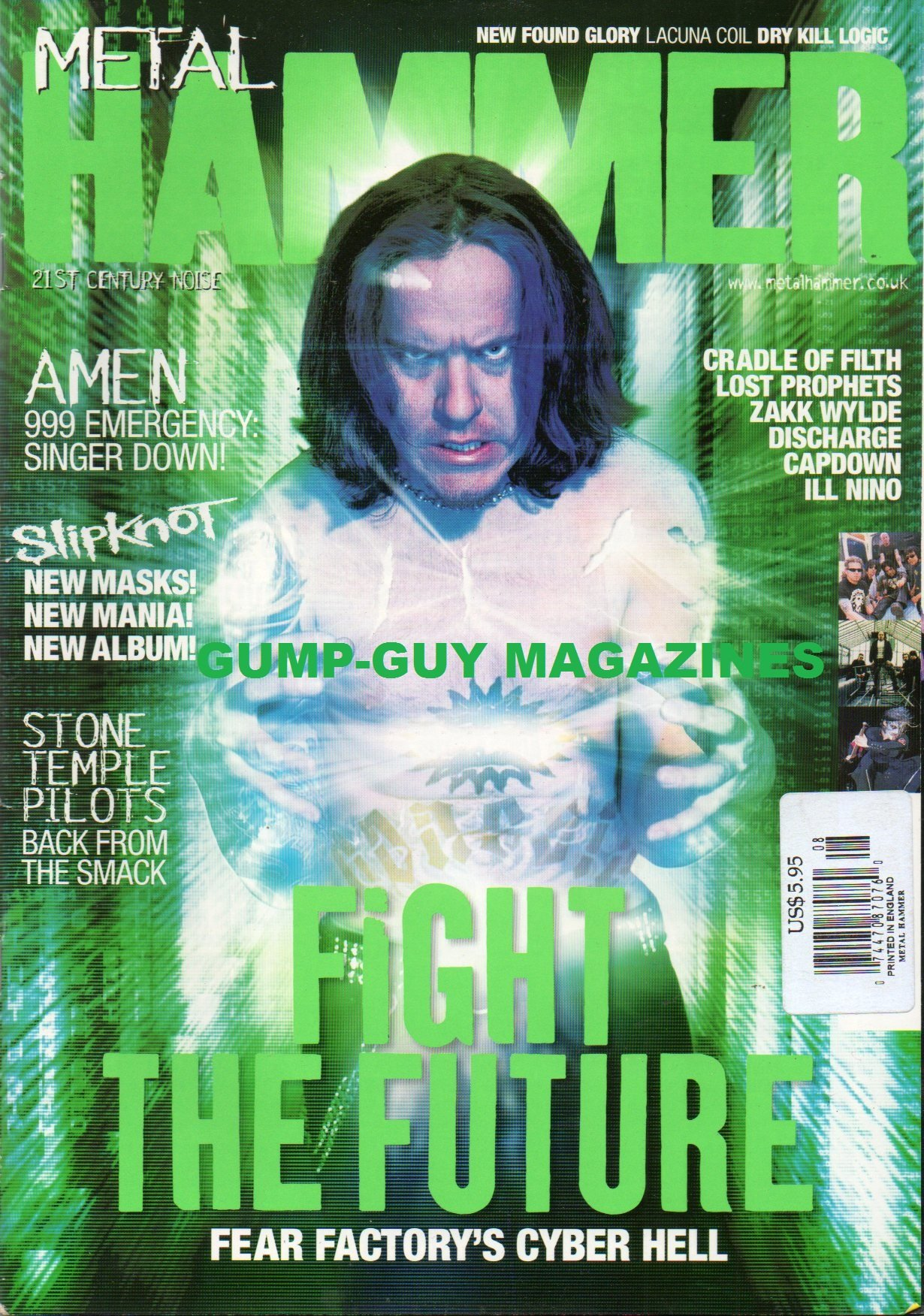 Read Online METAL HAMMER #90 CRADLE OF FILTH Slipknot NEW FOUND GLORY Lucina Coil STONE TEMPLE PILOTS: BACK FROM THE SMACK Fight The Future FEAR FACTORY'S CYBER HELL PDF