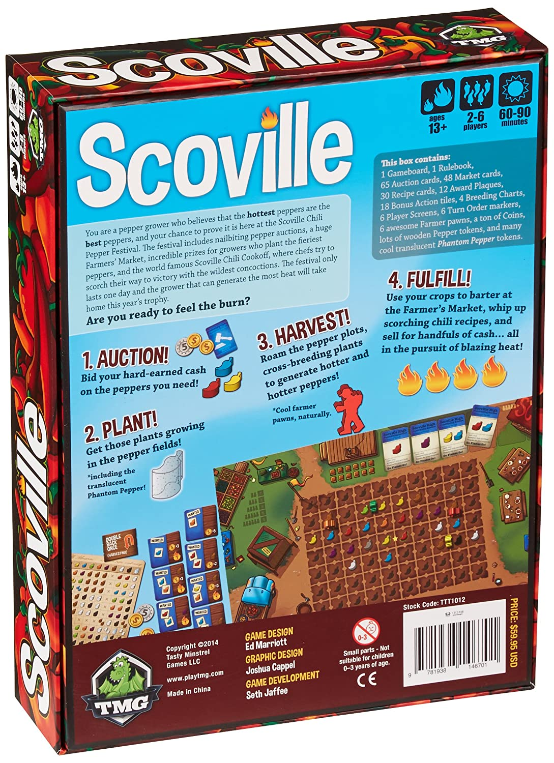 Amazon.com: Tasty Minstrel Games Scoville Board Game: Toys & Games