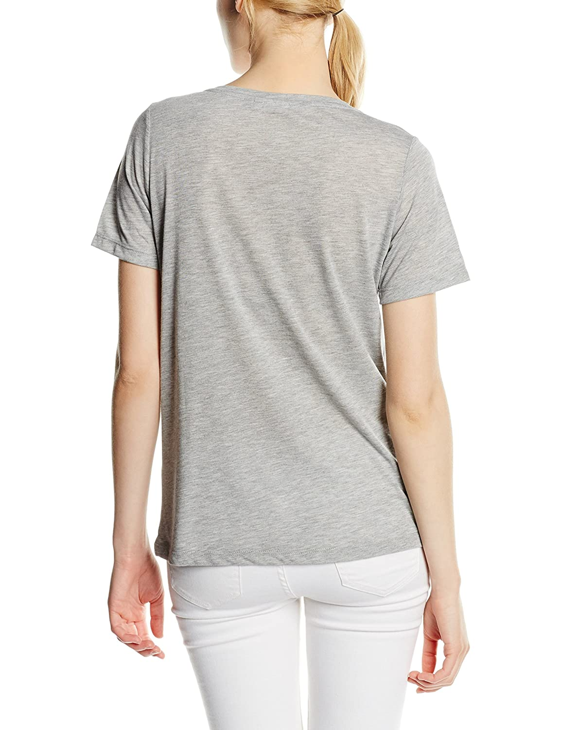 Only Women's Onlwildness S/S Top Box Jrs T-Shirt, Grey-Grau (Light Grey  Melange Print:Wildness), 34 (Herstellergröße: XS): Amazon.co.uk: Clothing