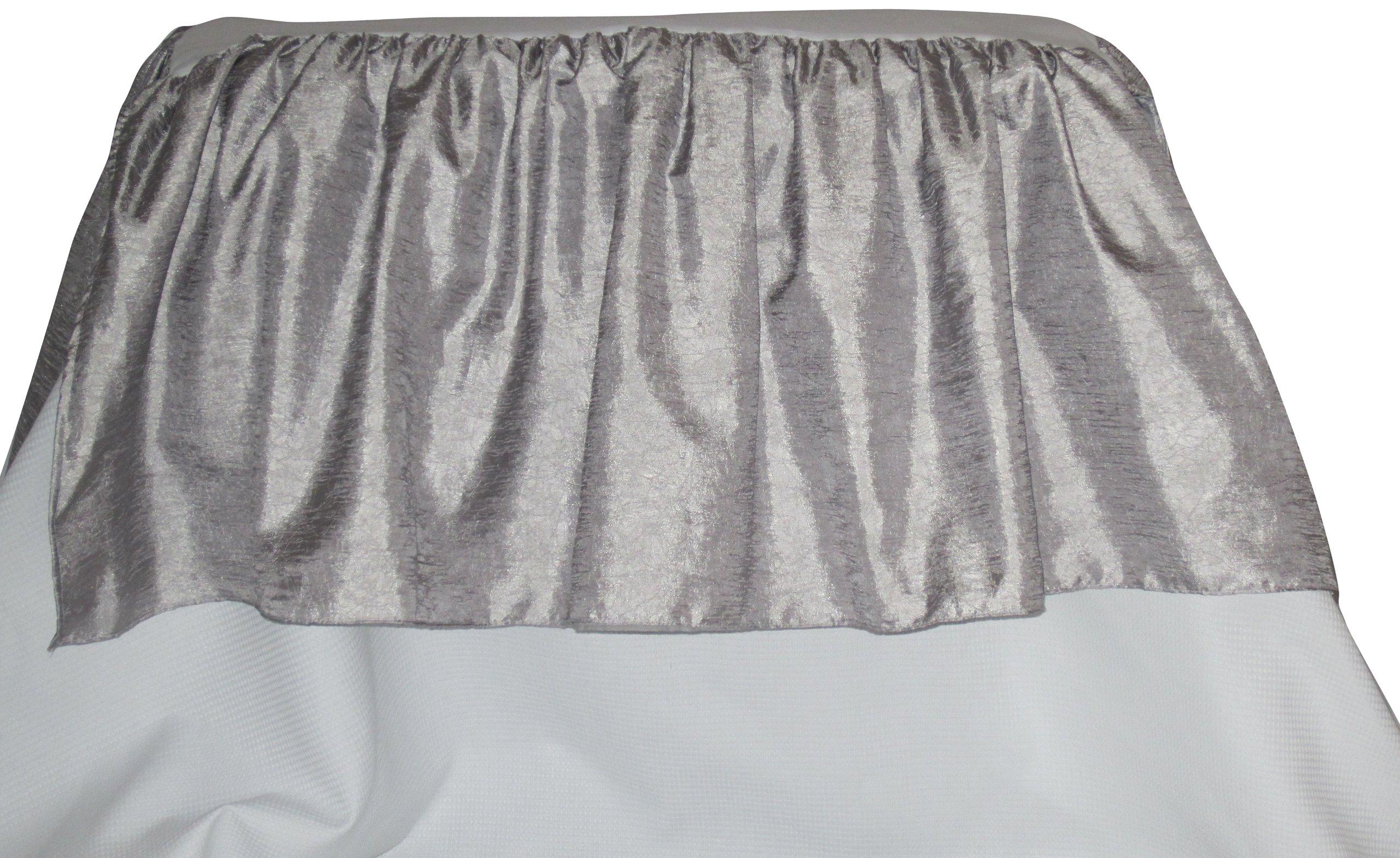 Baby Doll Crocodile Crib Skirt/Dust Ruffle, Silver/Grey by BabyDoll Bedding