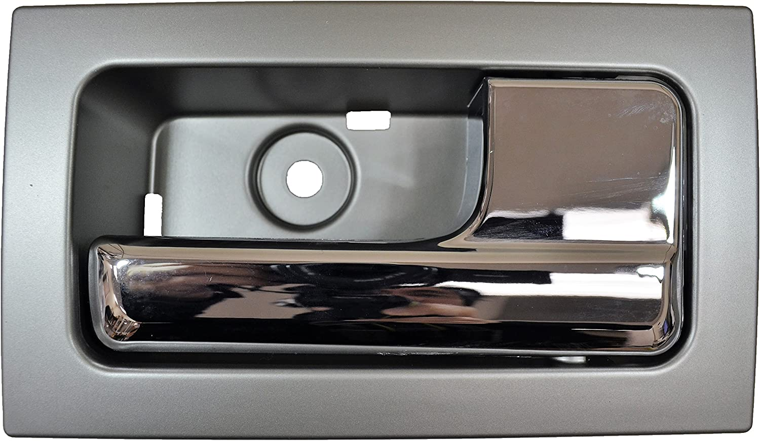 Passenger Side Front Inner Interior Inside Door Handle PT Auto Warehouse FO-2507MR-FR Silver Gray Housing with Chrome Lever