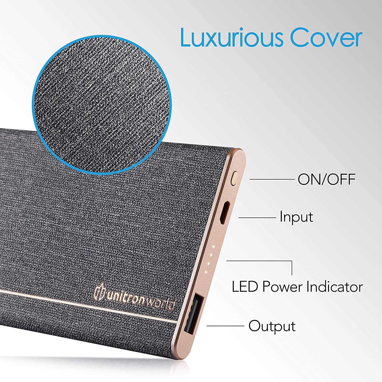 Unitron World Portable Charger Power Bank Ultra Slim Power Bank Portable Phone Charger External Battery Pack High Speed Compatible with iPhone 11 Pro XS X Max 8 6 iPad Android Pixel Samsung   5000mAh