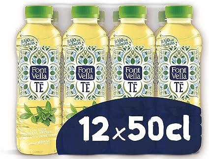 Font Vella Té Agua Mineral y extracto de té Verde Sabor Menta - Pack 12 x 50cl: Amazon.es: Alimentación y bebidas