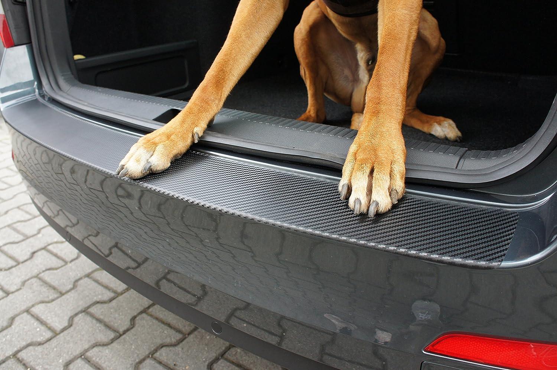 A6 4G C7 Avant Facelift Ladekantenschutz Lackschutzfolie von CCW/© mit Profi-Rakel in 3D Carbon Schwarz