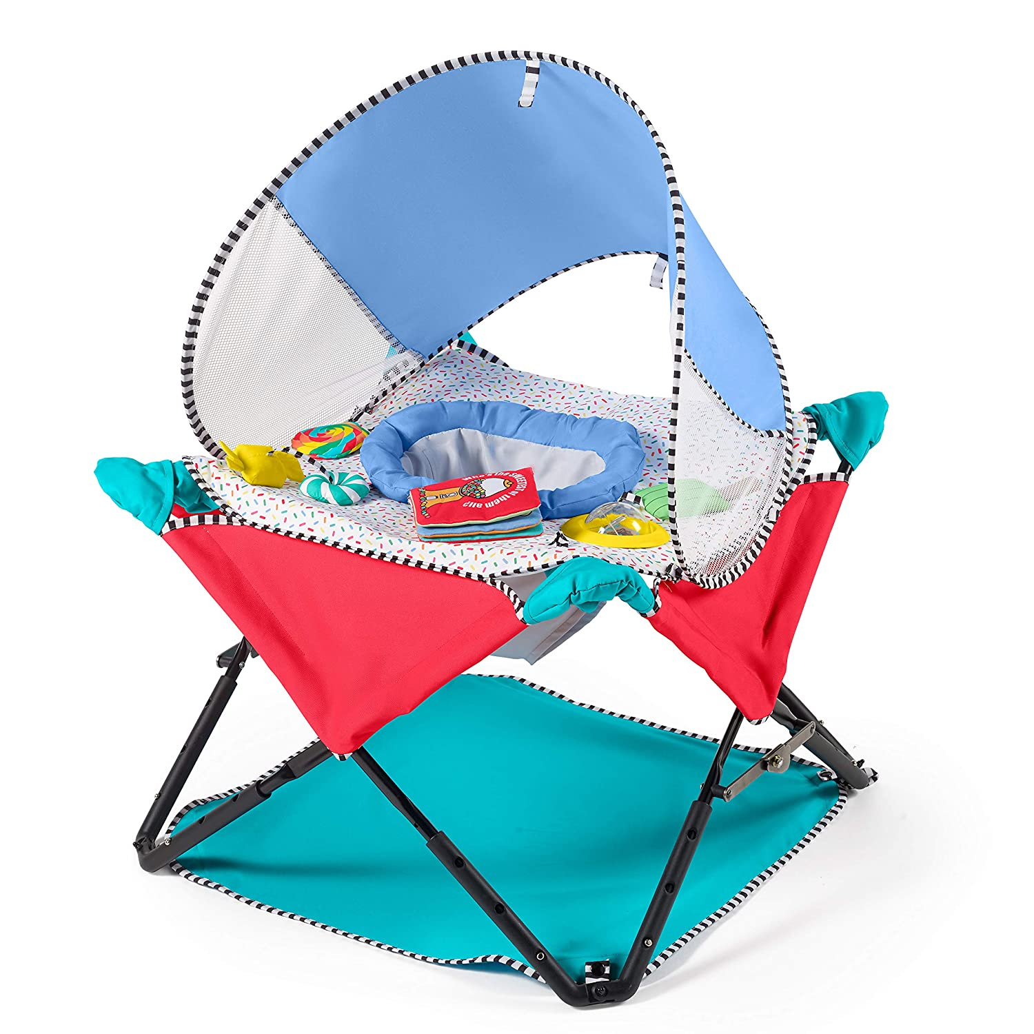 Summer Pop 'N Jump SE Portable Activity Center, Sweets & Treats – Baby Activity Center for Indoor/Outdoor Use – Fast, Easy and Compact Fold