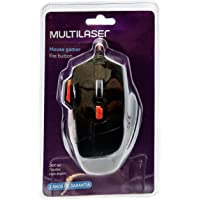 Mouse Optico XGamer Fire Button USB 2400 DPI, Multilaser, MO236, Computadores e Notebook, Preto