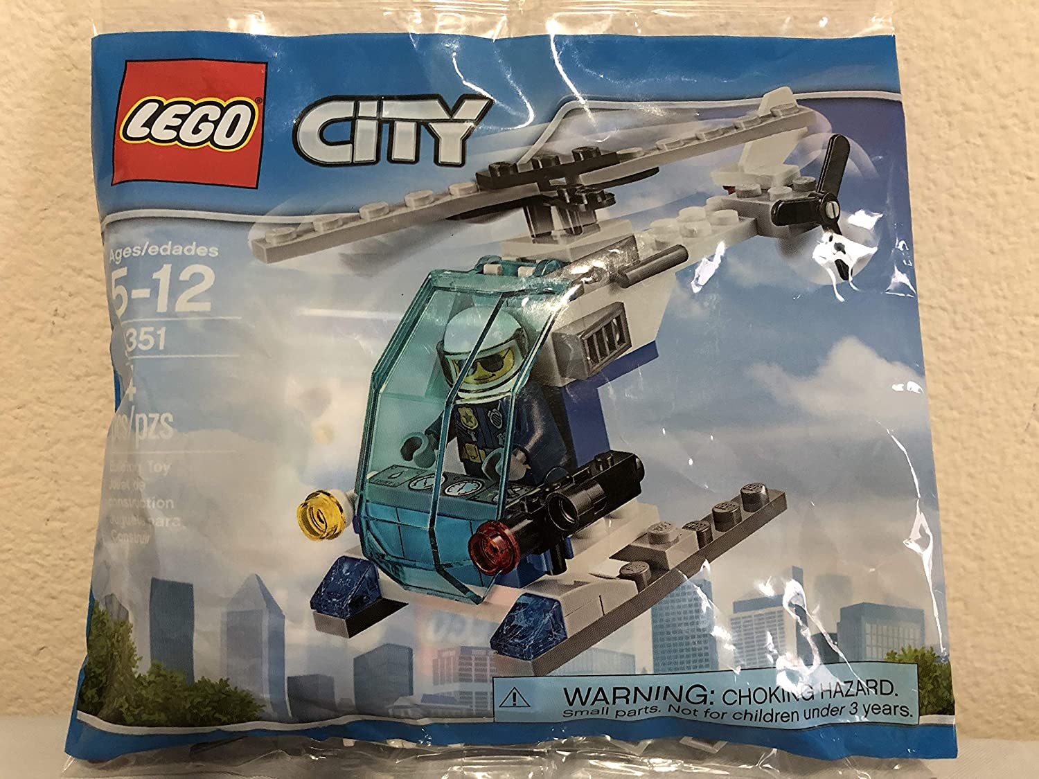 LEGO City Sky Police Drone Chase Bundled City Police Helicopter Bagged