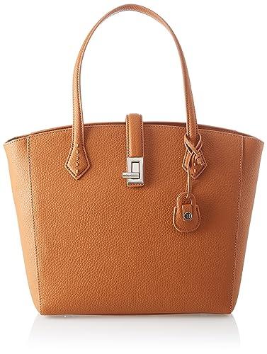 Damen Suzanne Ecoleather Smooth Shopping Bag Schultertasche, Braun (Leather), 17.5x43x36 centimeters Trussardi