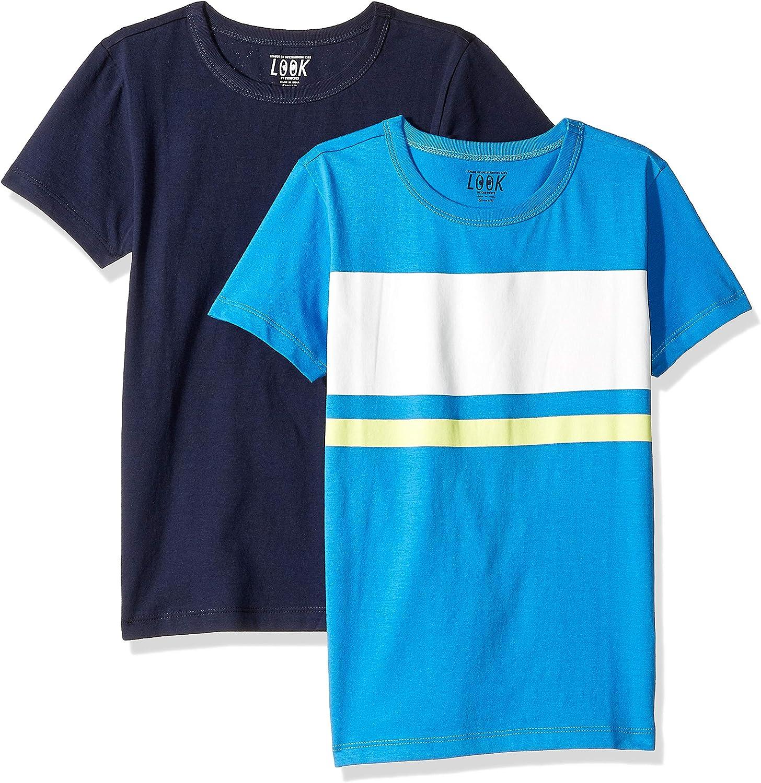 Crew 2 unidades Marca  // J LOOK by crewcuts Camiseta de manga corta para ni/ña liso//estampado