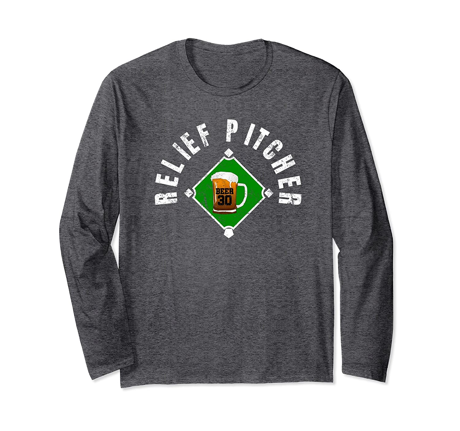 Relief Pitcher Funny Beer Baseball LS T-Shirt-fa