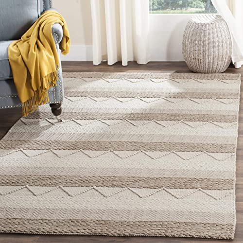Safavieh NAT103A-2 Natura Collection Handmade Wool Area Rug, 2 x 3 , Beige