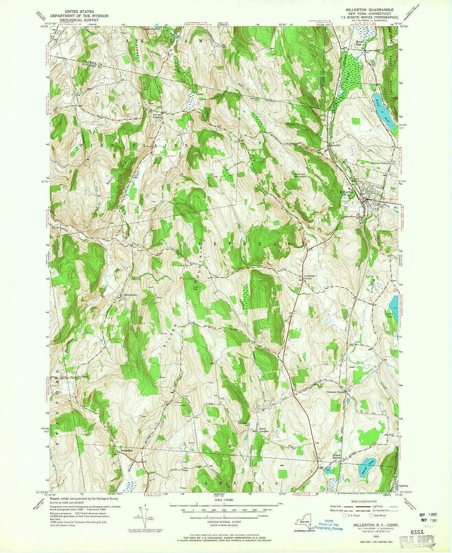 Topographic Map Washington Dc.Amazon Com New York Maps 1955 Millerton Ny Usgs Historical