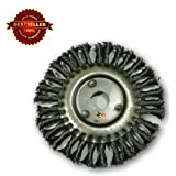 "Tools Centre Twisted Wire Wheel Brush, Twist Knot Crimped For 125mm(5"") Angle Grinders ."