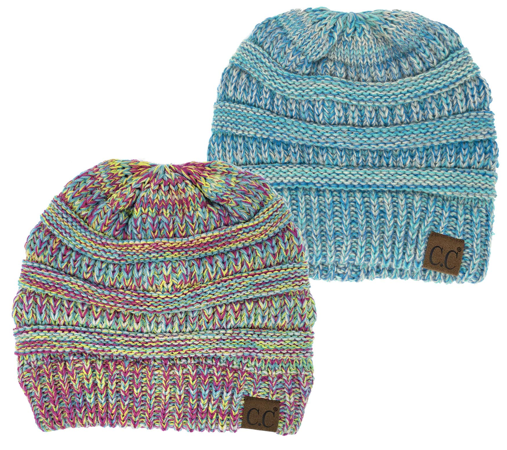 Funky Junque Trendy Warm Chunky Soft Marled Cable Knit Slouchy Beanie  product image f11016c819b