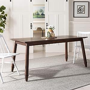 Safavieh Home Brayson Modern Walnut Dining Table
