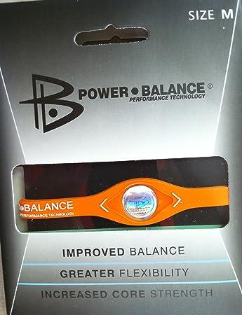 b73ae2d13114a Power Balance Silicone Wristband Bracelet --(Color:Orange; Size: Medium)