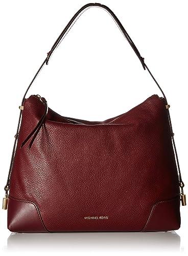 f433d3e606e59 MICHAEL Michael Kors Femmes cuir Crosby grand sac à bandoulière Rouge Une  Taille