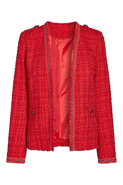 next Mujer Chaqueta Abierta Sin Cierre Tweed con Textura con ...