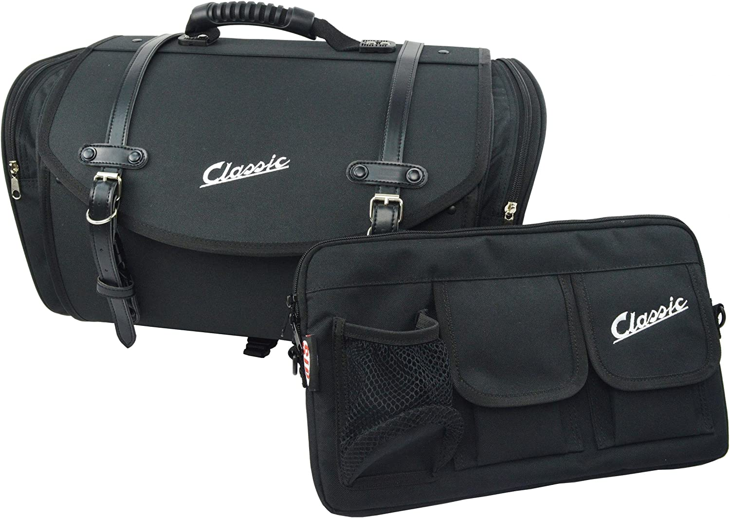 SIP Pockets Set Classic Nylon with Bag for Luggage Compartment and Bag//Case Large for Carrier Black