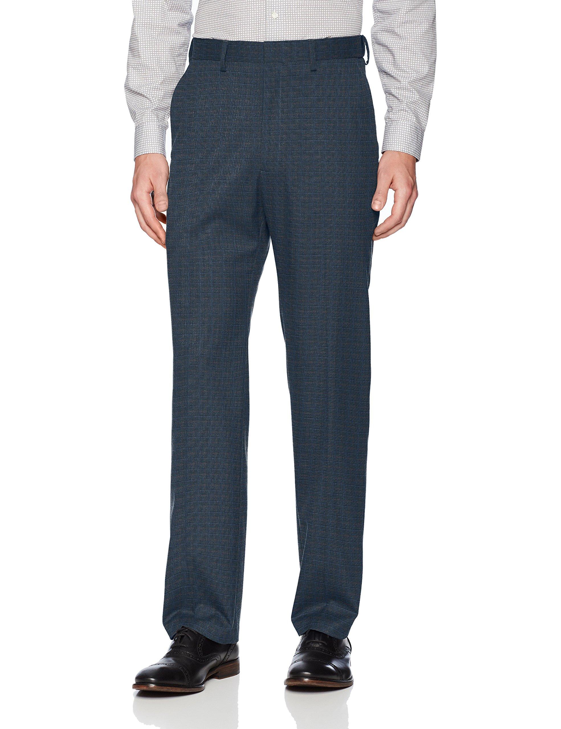 Haggar Men's J.m Premium Deco Classic Fit Suit Separate Pant, Navy, 40Wx30L