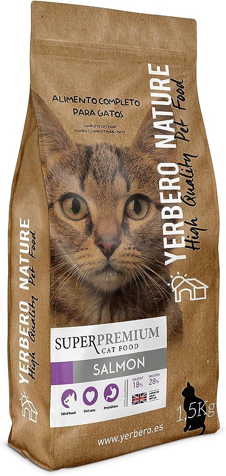 Yerbero NATURE SALMON pienso superpremium para gatos 1.5kg: Amazon ...