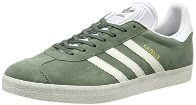 adidas Gazelle, Baskets Homme, Vert (Trace Green/Off Footwear White),