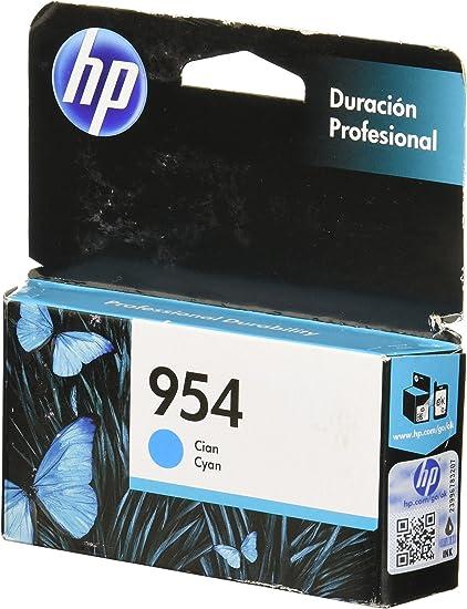 HP 954 Original Cian - Cartucho de tinta para impresoras (Original ...