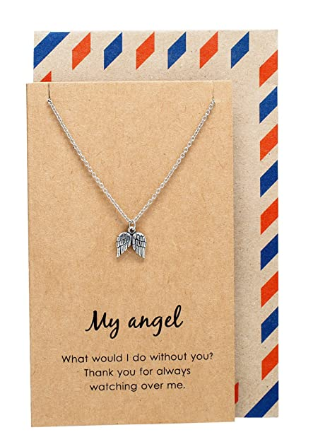 Quan Jewelry My Angel Necklace Handmade Gifts For Her Minimalist Design Wing