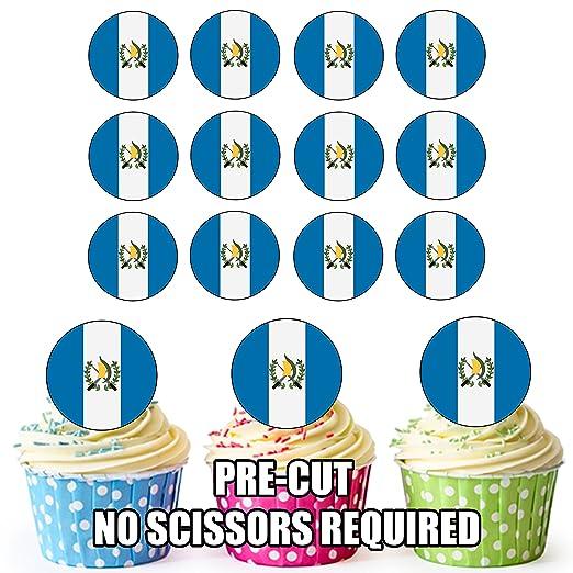 Bandera de Guatemala - 24 comestible cupcake toppers/adornos ...
