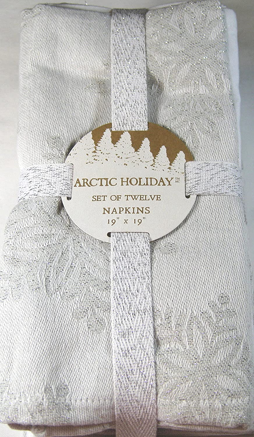 Arctic Holiday Snowflakes Dinner Napkins - Set of 12