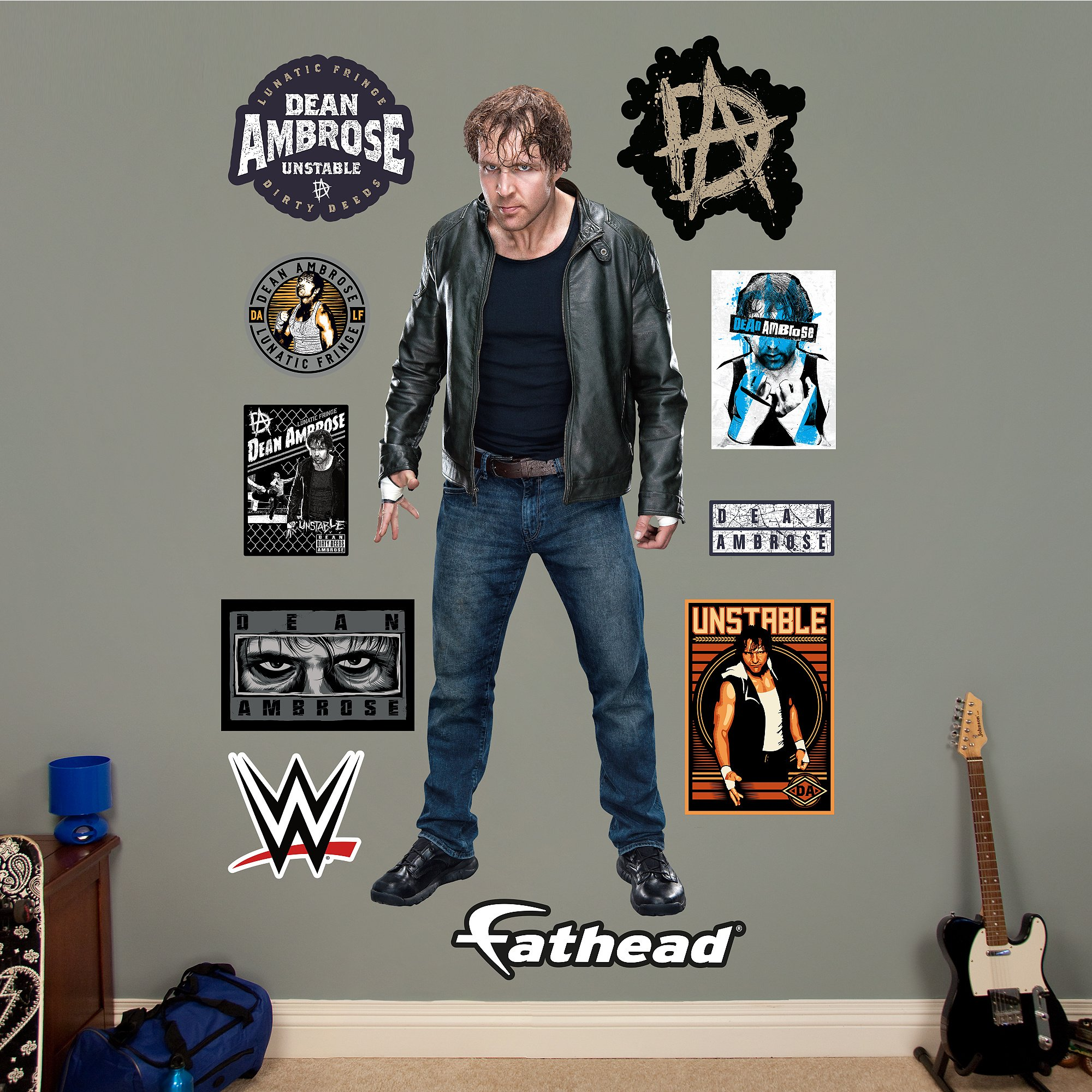 Fathead Dean Ambrose Real Decals