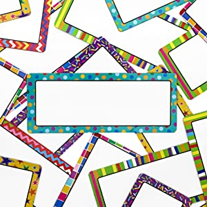 Magnetic Classroom Name Tags (5 x 2 Inches, 36-Pack)