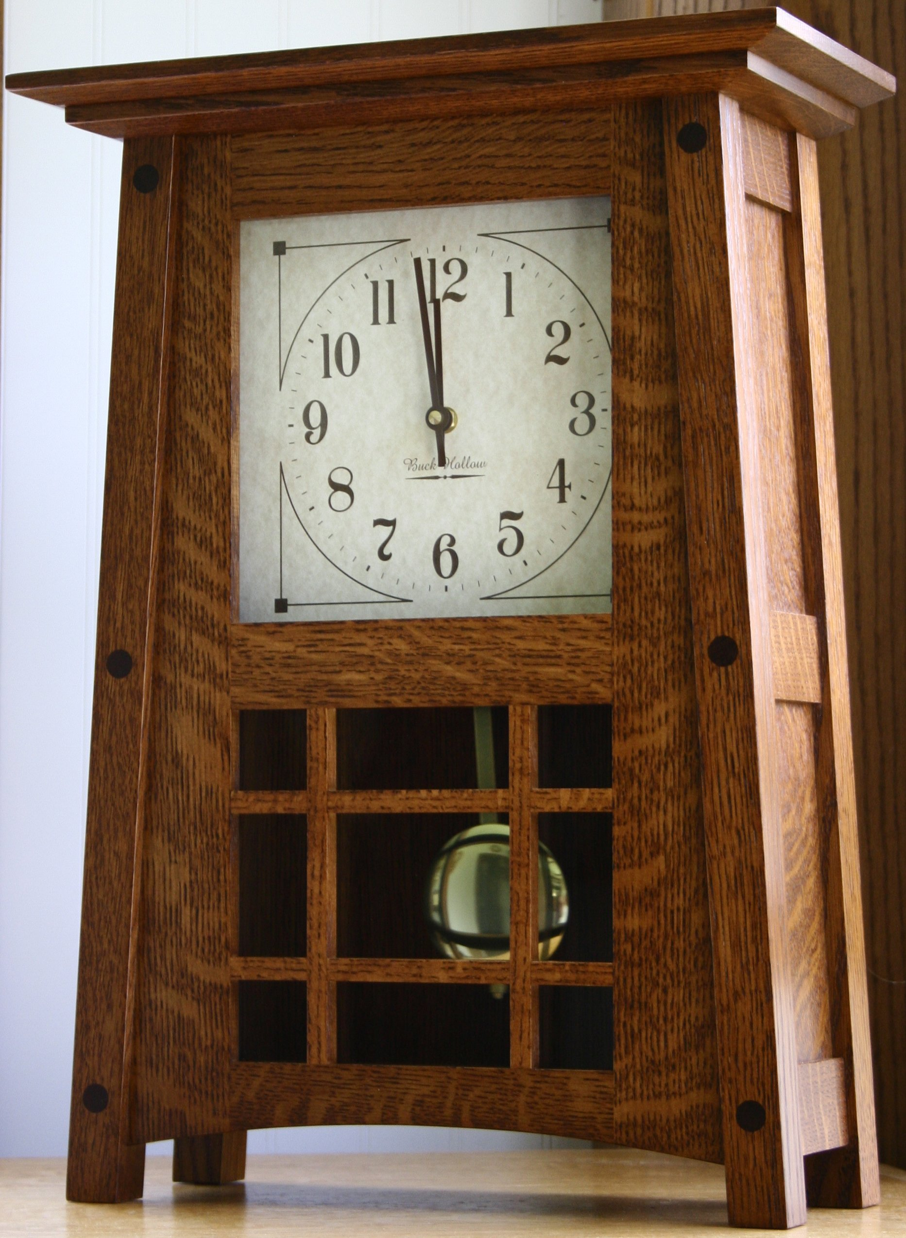 Amish Handcrafted McCoy Mantel Clock by Presto
