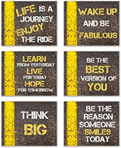 "Inspirational Road Signs: Life Thoughts and Motivation: Set of 6 (8""x10"" unframed) Poster Prints Wall Decor - Life Lessons and Motivation"