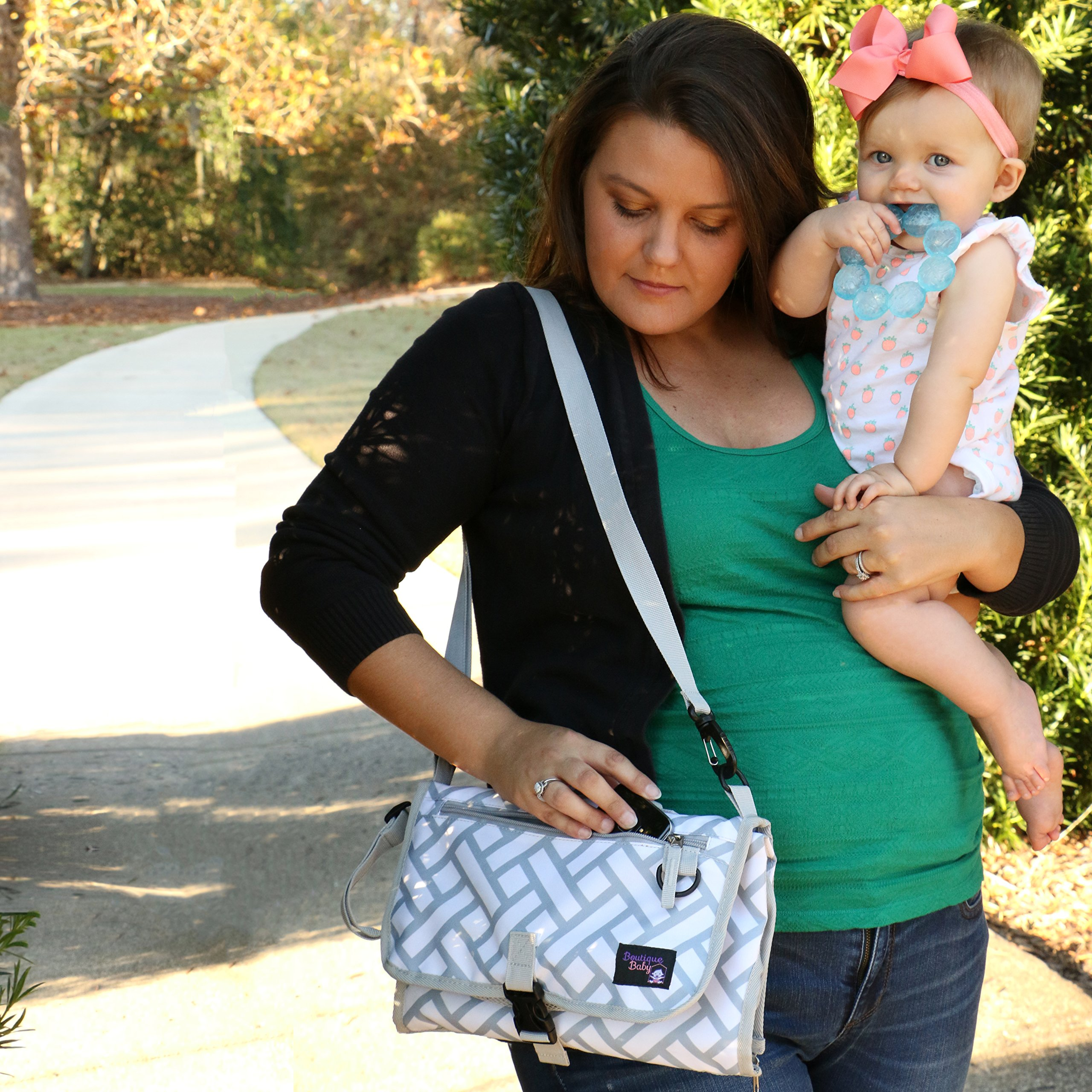 Baby Changing Pad By Boutique Baby Portable Diaper Changing Pad Station Waterproof Extra Long  Travel Clutch by Boutique Baby (Image #4)