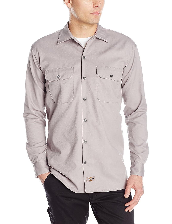 LONG SLEEVE WORK SHIRT(長袖ワークシャツ)(並行輸入品) B06Y2FR7H2 L|シルバー シルバー L