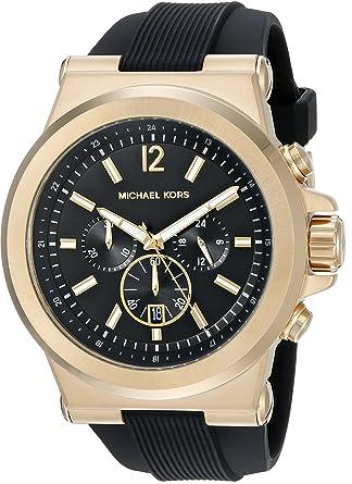 5d388c2fe298 Amazon.com  Michael Kors Men s Dylan Black Watch MK8445  Michael Kors   Watches