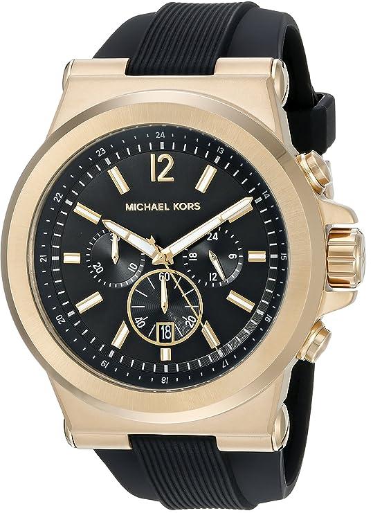 d61740d3379e Amazon.com  Michael Kors Men s Dylan Black Watch MK8445  Michael Kors   Watches