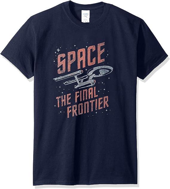 Star Trek - - Hombre Viajes camiseta del espacio: Amazon.es: Ropa y accesorios