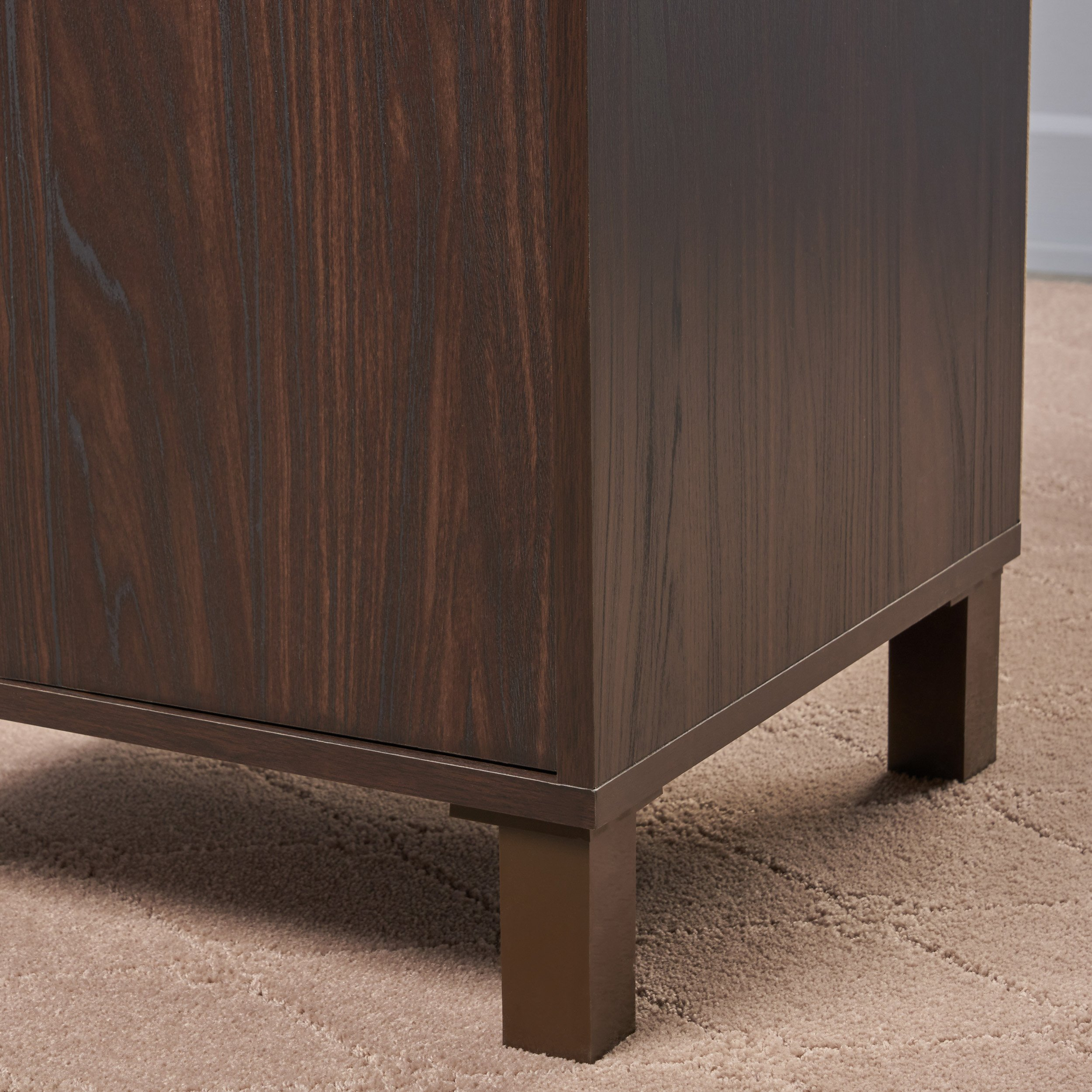 Christopher Knight Home 303655 Linnea Wood Cabinet, Walnut/Sanremo Oak/Brown by Christopher Knight Home (Image #3)