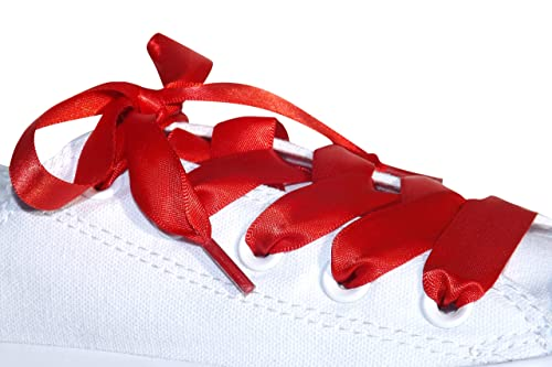 4203e6a1ee91 Amazon.com  Red Flat Satin Ribbon Shoelaces