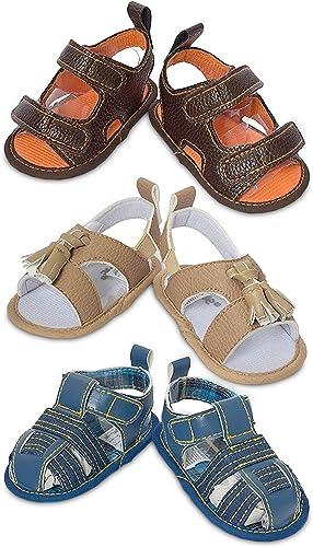 3 Pack Infant \u0026 Baby Boys Sandals- Soft