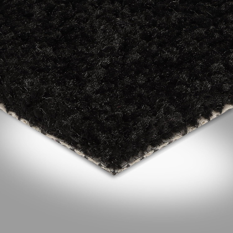 verschiedene L/ängen BODENMEISTER BM72182 Teppichboden Auslegware Meterware Hochflor Shaggy Langflor Velour schwarz 400 cm und 500 cm breit Variante 5,5 x 5 m