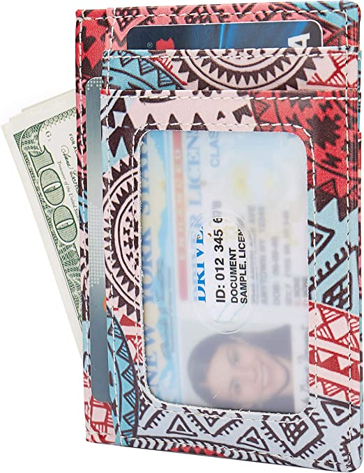 Amazon.com: Billetera pequeña con bloqueo RFID minimalista ...