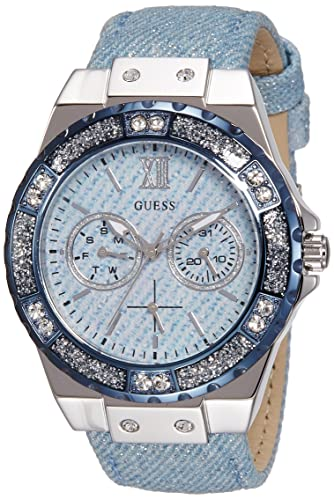 Guess Damen-Armbanduhr Ladies Sport Analog Quarz Leder W0775L1