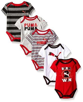 3ee1a075c8d8 Amazon.com  PUMA Baby Boys  5-Pack Bodysuit Pack  Clothing