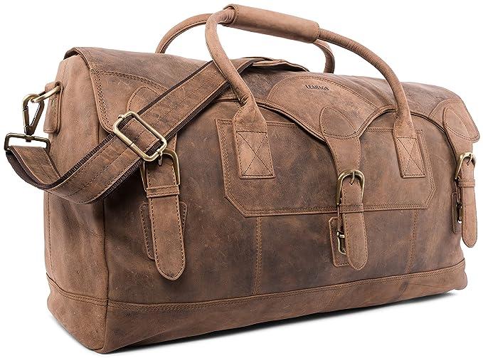 LEABAGS Elche sac de voyage rétro-vintage en véritable cuir de buffle - Fallow UJt6BqA8b8