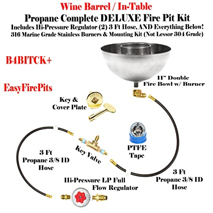 Amazon easyfirepits b4bitck do it yourself in table easyfirepits b4bitck do it yourself in table propane fire pit kit solutioingenieria Gallery