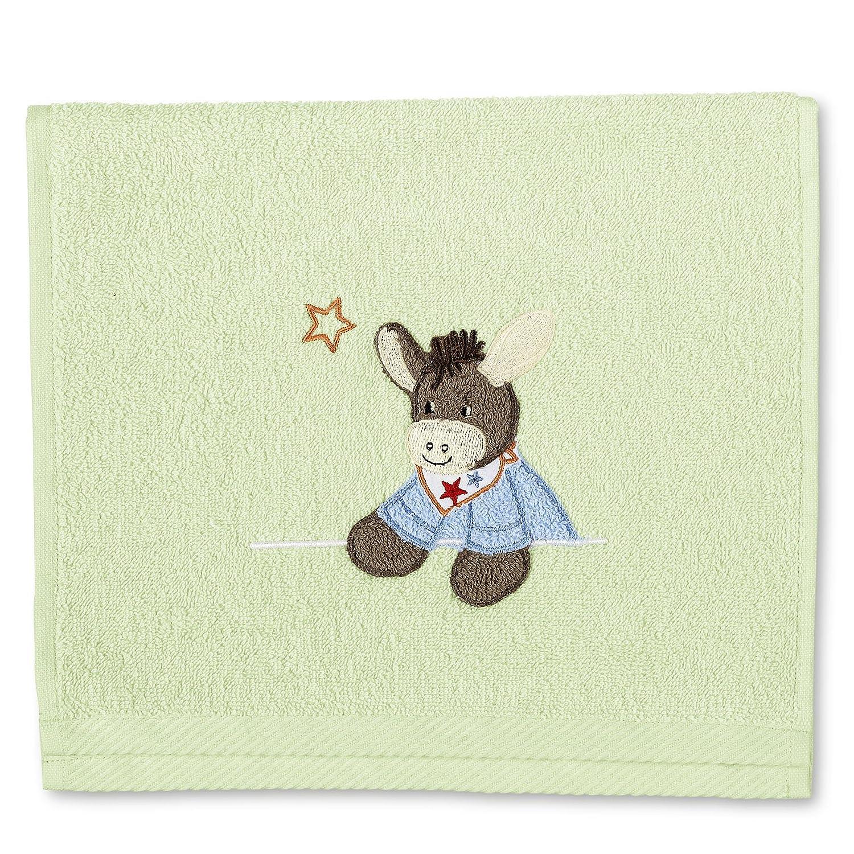 Sterntaler Serviette pour enfants Emmi, Âge: à partir de 0 Mois, 30 x 50 cm, Blanc 96244